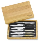 Laguiole en Aubrac Mixed-Horn Steak Knife Set, Set of 6