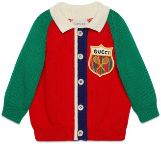 Gucci Baby cotton cardigan with Tennis