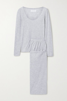 The Great Cotton-blend Jersey Pajama Set - Gray