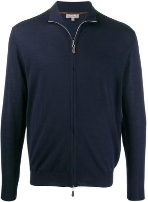 N.Peal Zip-Up Funnel-Neck Cardigan