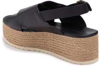 Vince Jenaya Leather Platform Espadrille Slingback Sandal