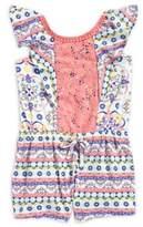 Nannette Little Girl's Printed Romper
