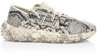Giuseppe Zanotti Urchin Crocodile-Embossed Leather Sneakers