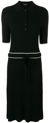 Cashmere In Love Cashmere Blend Ribbed Knit Dress