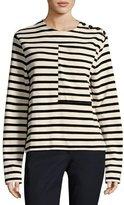 Joseph Breton Long-Sleeve Striped Cotton T-Shirt