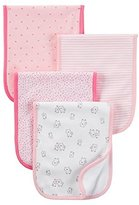 Carter's Just One YouTM Made by Baby Girls' 4-Pack Burp Cloth Set - Pink