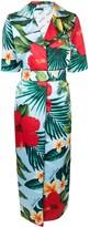 Richard Quinn tropical flower print coat