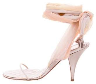 Chanel Satin Multistrap Sandals