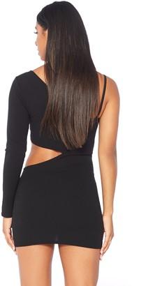 Public Desire Uk One Shoulder Cut Out Dress