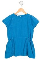 Caramel Baby & Child Girls' Linen Short Sleeve Dress