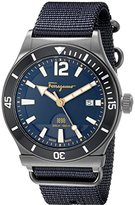 Salvatore Ferragamo Men's FF3210015 1898 Sport Analog Display Quartz Blue Watch