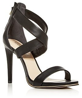 Kenneth Cole Women's Brooke Leather Crisscross High-Heel Sandals