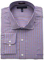 Tommy Hilfiger Men's Big and Tall Non Iron Big Fit Check Spread Collar Dress Shirt