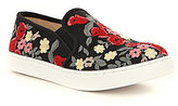 Betsey Johnson Blue by Esme Embroidered Fabric Slip-On Sneakers