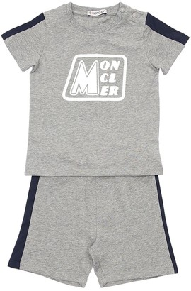 Moncler Logo Print Cotton Jersey T-shirt & Short
