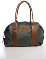 MICHAEL Michael Kors Green Full Zipper Brown Leather Trim Tote Shoulder Handbag
