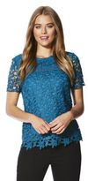F&F Guipure Lace Front Top, Women's