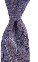 Daniel Cremieux Big & Tall Heart Paisley Traditional Silk Tie