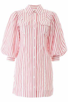 Ganni Striped Mini Dress