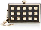 Elie Saab Black and Gold Brass Clutch