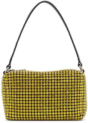 Alexander Wang Yellow Medium Rhinestone Heiress Bag