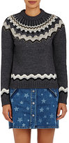 Valentino Women's Fair Isle Wool-Blend Sweater-GREY