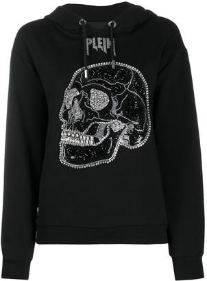 Philipp Plein Crystal Skull-Embellished Hoodie