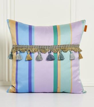 Etro Passementerie Embroidered Striped Cushion (45Cm X 45Cm)