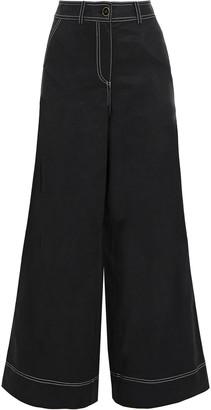 Ulla Johnson Noah Tencel And Cotton-blend Twill Wide-leg Pants