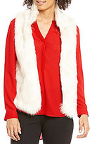 Gibson & Latimer Open Neck Lined Sleeveless Faux-Fur Vest