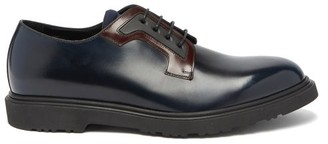 Paul Smith Mac Rubber-sole Leather Derby Shoes - Navy Multi