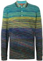 Missoni patterned long-sleeved polo shirt