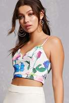 Forever 21 Floral Cami Crop Top