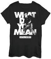 New World Justin Bieber Graphic T-Shirt- Juniors