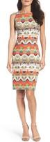 Maggy London Petite Women's Print Sheath Dress