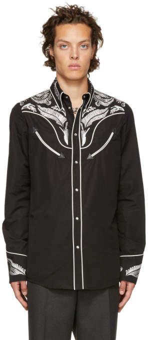 DSQUARED2 Black Chic Western Shirt