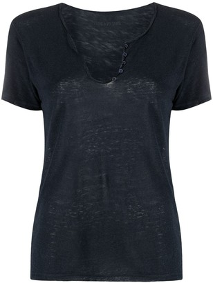 Zadig & Voltaire sequinned star scoop T-shirt