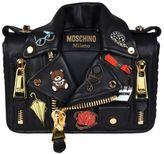Moschino Embellished Biker Shoulder Bag