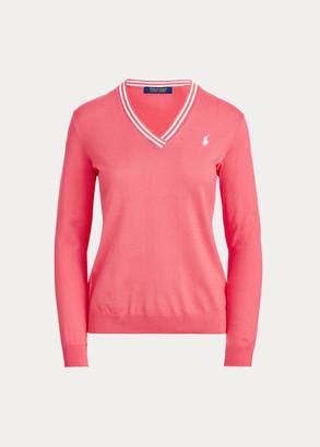 Ralph Lauren Cotton V-Neck Golf Sweater