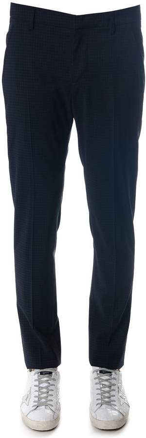 Dondup Gaubert Cool Wool Pants In Blue Color