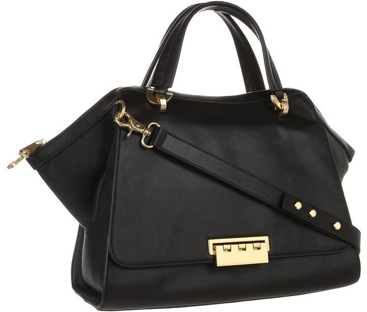 Z Spoke Zac Posen Eartha Soft Double Handle Satchel (Black) - Bags and Luggage