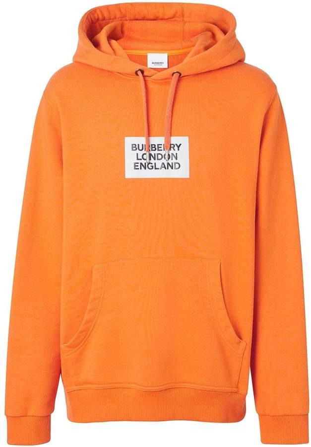 Burberry Logo print cotton hoodie