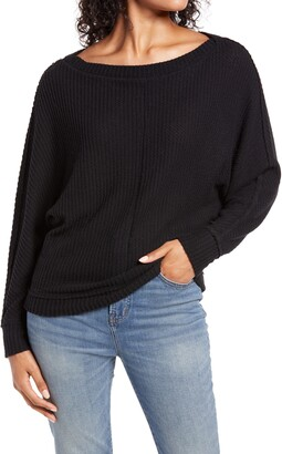 Caslon Dolman Sleeve Thermal Top
