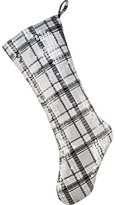 CB2 Highland Plaid Stocking