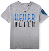 Under Armour Big Boys 8-20 Never Count Me Out Short-Sleeve Tee