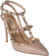 Valentino Rockstud 100 Leather Ankle Strap Pump