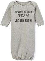 Gray 'Newest Team Member' Personalized Gown - Infant
