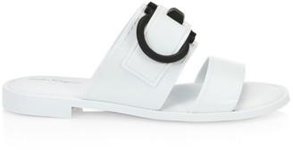 Salvatore Ferragamo Taryn Flat PVC Sandals