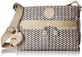 Kipling Angie Medium Printed Crossbody Bag Cross Body, OCEAN BREEZE PURPLE