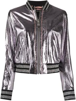 Philipp Plein Stud-Embellished Bomber Jacket